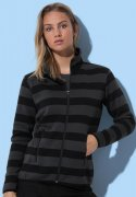 Dames Fleece Vest Striped Stedman ST5090