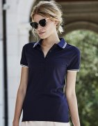 Dames Poloshirt Tee Jays Luxury Stripe Stretch 1408