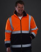 High Visibility Fleece Werktrui HVK08/3M