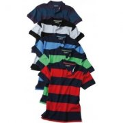 Heren Poloshirts striped James & Nicholson JN948
