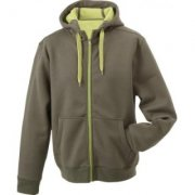 Hooded sweater binnenzijde fleece JN355