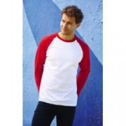 Baseball T-shirts lange mouw Fruit of the Loom 61-028-0